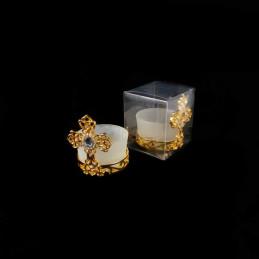 Obiecte bisericesti | Candela de masa din metal 6cm | 5119