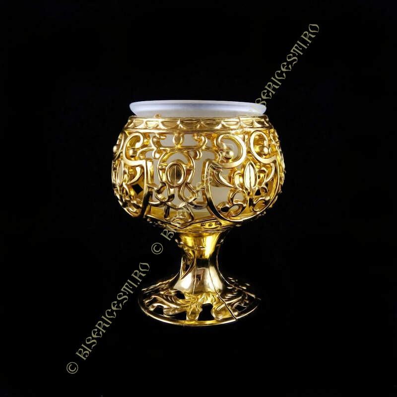 Obiecte bisericesti | Candela de masa din plastic 10cm | 5121