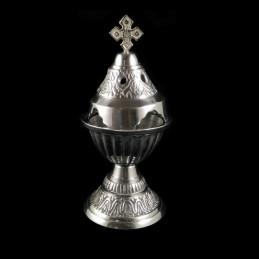 Obiecte bisericesti | Candela de masa din metal aluminiu 19cm | 5128