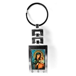 Obiecte bisericesti | Breloc cu Icoana Maicii Domnului aplicata | 1500
