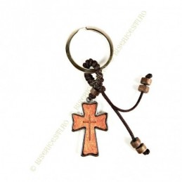 Obiecte bisericesti | Breloc cu cruce din lemn | 1513