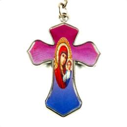 Obiecte bisericesti | Breloc cu cruce si Icoana Maicii Domnului aplicata | 1530