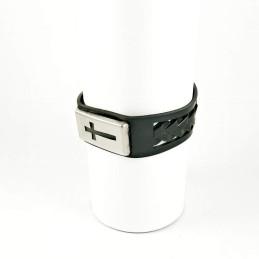 Obiecte bisericesti | Bratara curea cu capsa silicon | 1013