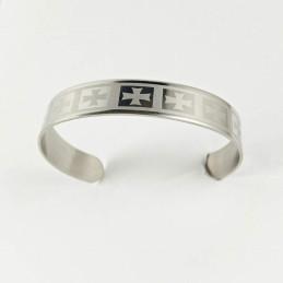 Obiecte bisericesti | Bratara rigida metalica inox | 1022