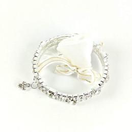 Obiecte bisericesti | Bratara spirala metalica strasuri  | 1025