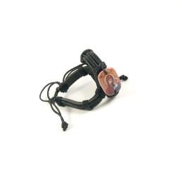 Obiecte bisericesti | Bratara curea si sfoara piele sintetica | 1055