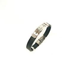 Obiecte bisericesti | Bratara curea cu catarama silicon | 1057