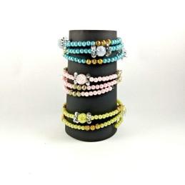 Obiecte bisericesti | Bratara spirala metalica bile de plastic | 1072