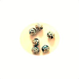 Obiecte bisericesti bile | Margele rotunde de trecere 6mm | 6134