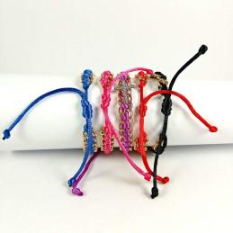 Obiecte bisericesti | Bratara lant metalic snur textil | 1088