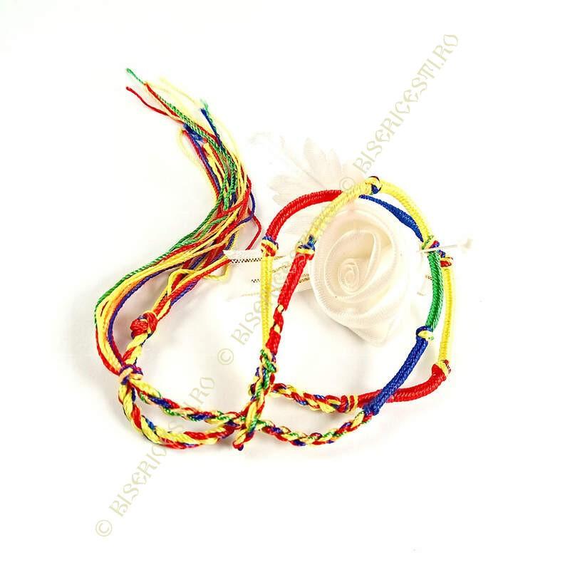 Obiecte bisericesti | Bratara sfoara impletita snur textil | 1131