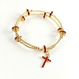 Obiecte bisericesti | Bratara spirala metalica strasuri | 1136