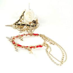 Obiecte bisericesti | Bratara lant metalic  snur piele sintetica | 1137