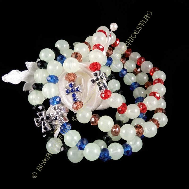 Obiecte bisericesti   Bratara elastica bile de plastic   1162