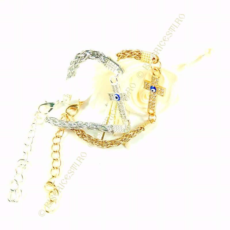 Obiecte bisericesti | Bratara lant metalic impletitura | 1169