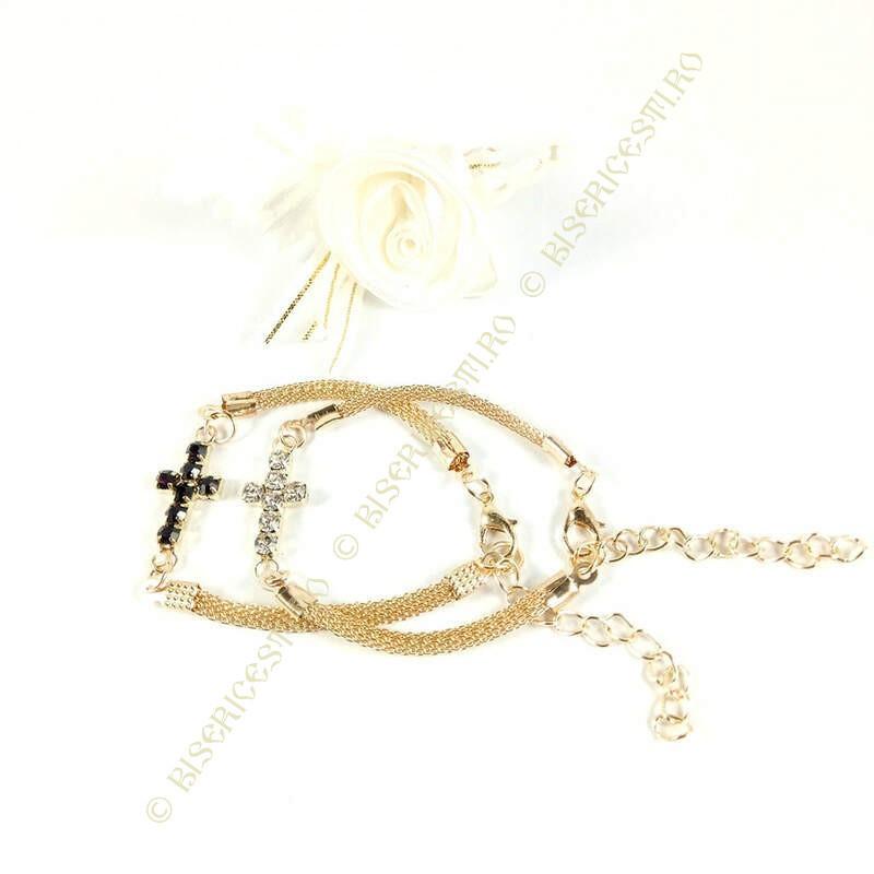 Obiecte bisericesti | Bratara lant metalic impletitura | 1170