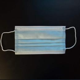 Masca de unica folosinta 3 straturi 3 pliuri albastru deschis | Masti