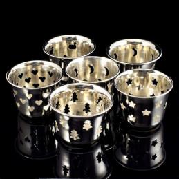 Obiecte bisericesti | Candela de masa din metal inox 55mm | 5130