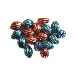 Obiecte bisericesti bile | Margele ovale de trecere 17mm | 6174