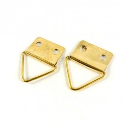 Accesorii inramari | Agatatoare triunghi 2 orificii prindere 23mm | 3603