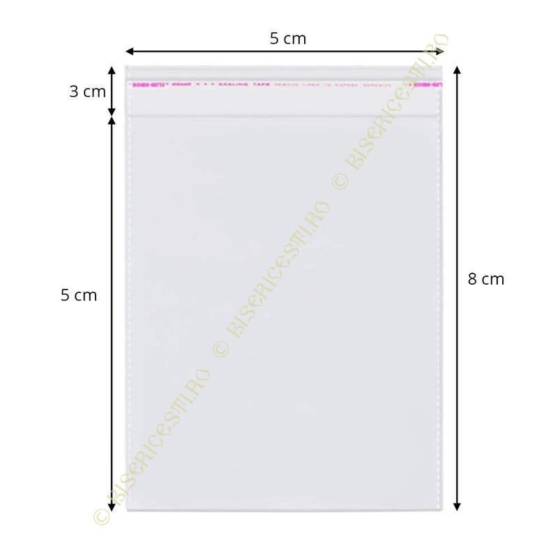 Ambalaje | Pungi cu clapeta adeziva 5cmx8cm set 1000 buc | 3713