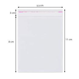 Ambalaje | Pungi cu clapeta adeziva 5.5cmx11cm set 1000 buc | 3714