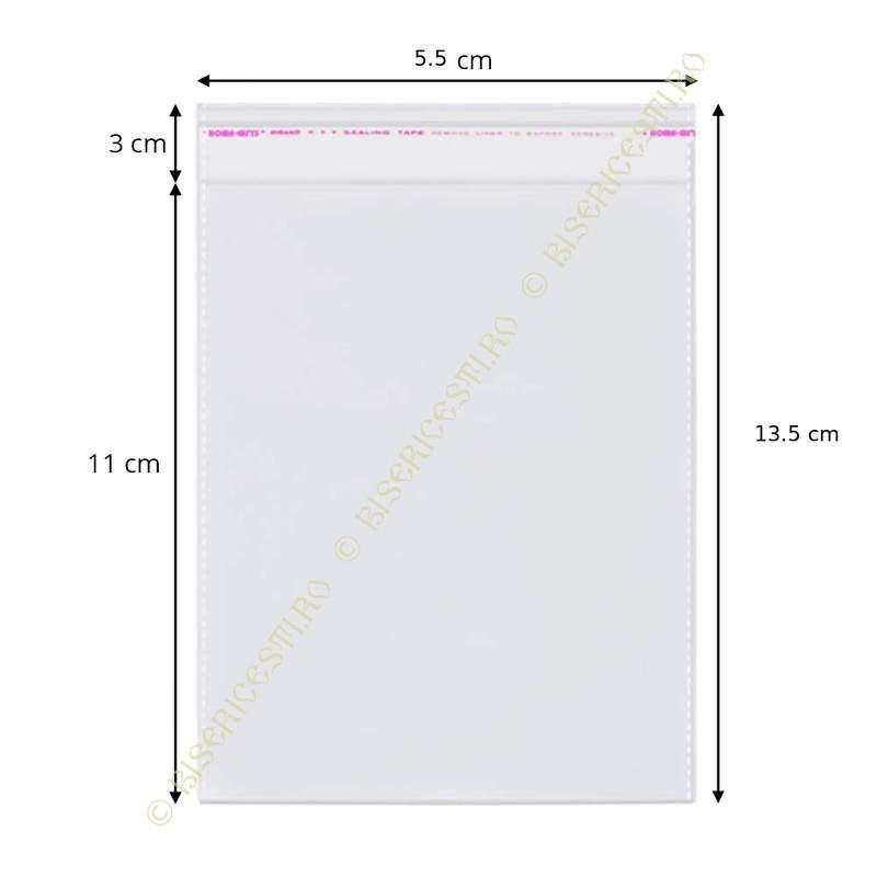 Ambalaje | Pungi cu clapeta adeziva 5.5cmx13.5cm set 1000 buc | 3715