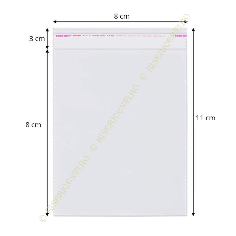 Ambalaje | Pungi cu clapeta adeziva 8cmx11cm set 1000 buc | 3722