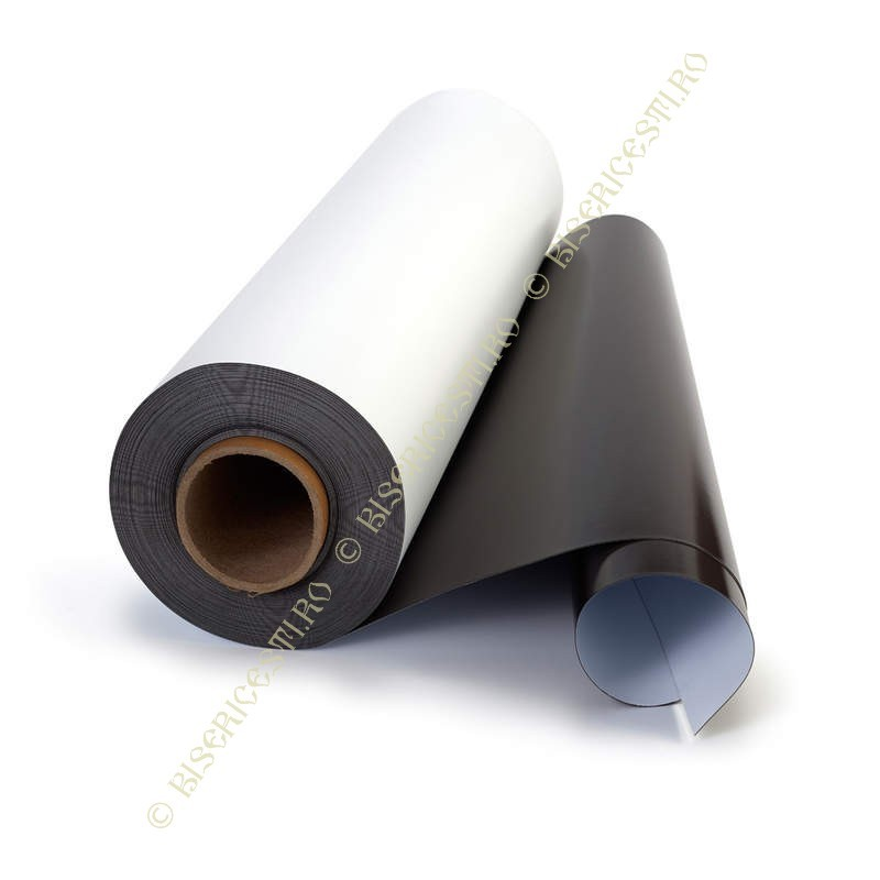 Magneti | Folie magnetica cu adeziv 0.7mmx0.6mx25m | 3807