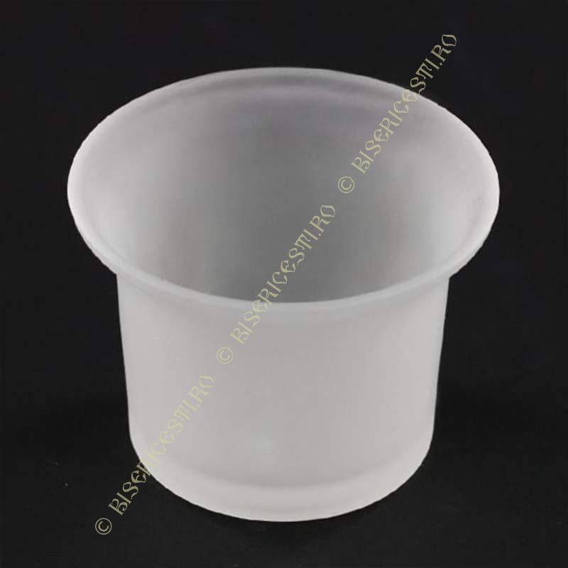 Obiecte bisericesti | Candela de masa din sticla  | 5131