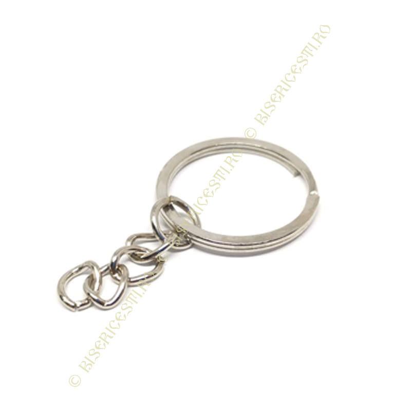 Inel breloc | Baza breloc inel cu lant 2.5cmx2cm | 3658
