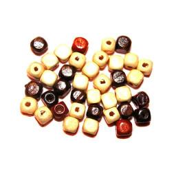 Obiecte bisericesti bile | Margele cub de trecere 7mm | 6193