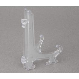 Obiecte bisericesti | Suport rama foto din plastic alb transparent | 3524