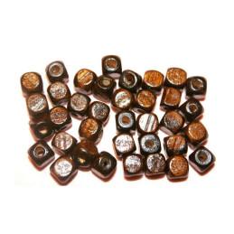 Obiecte bisericesti bile | Margele cub de trecere 8mm | 6198