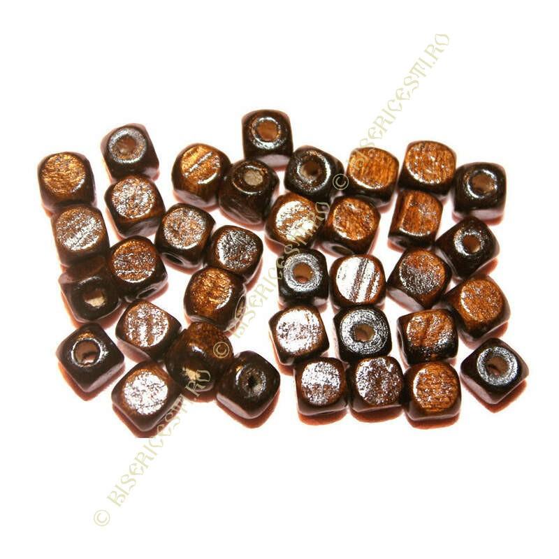 Obiecte bisericesti bile | Margele cub de trecere 6mm | 6209