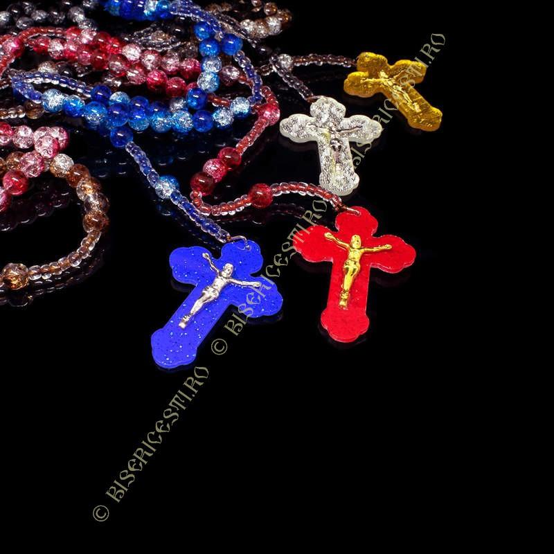 Colportaj Bisericesti.ro | Coliere medalion cruce  din plastic | 1881