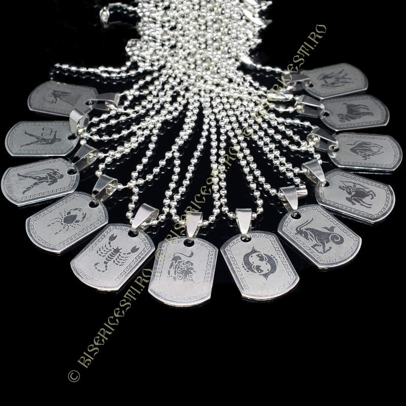 Colportaj Bisericesti.ro | Coliere medalion placuta din inox | 1884