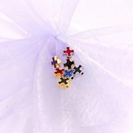 Obiecte bisericesti bile | Margele cruce de trecere 7mm | 6006