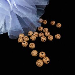 Obiecte bisericesti bile | Margele rotunde de trecere 8mm | 6262