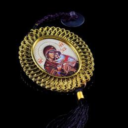 Obiecte bisericesti Medalion auto oval din plastic Ventani 2502