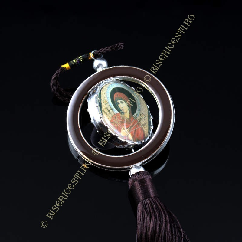 Obiecte bisericesti Medalion auto rotund  din plastic Ventani 2506