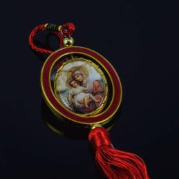 Obiecte bisericesti Medalion auto oval din plastic Ventani 2507