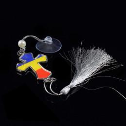 Obiecte bisericesti Medalion auto cruce din plastic Ventani 2508