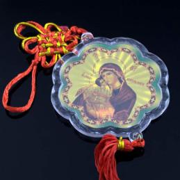 Obiecte bisericesti Medalion auto floare din plastic Ventani 2511