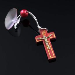 Obiecte bisericesti Medalion auto cruce din lemn pirogravat Ventani 2517