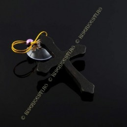 Obiecte bisericesti Medalion auto cruce din lemn lacuit Ventani 2525