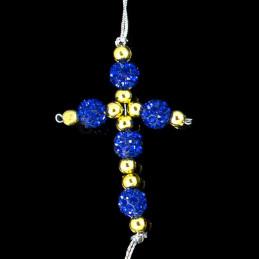 Obiecte bisericesti Medalion auto cruce pe suport din sarma Ventani 2527