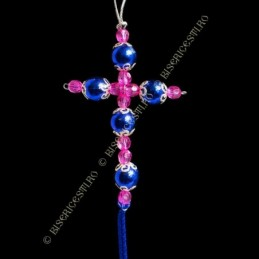 Obiecte bisericesti Medalion auto cruce pe suport din sarma Ventani 2528