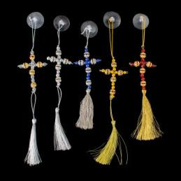 Obiecte bisericesti Medalion auto cruce pe suport din sarma Ventani 2530