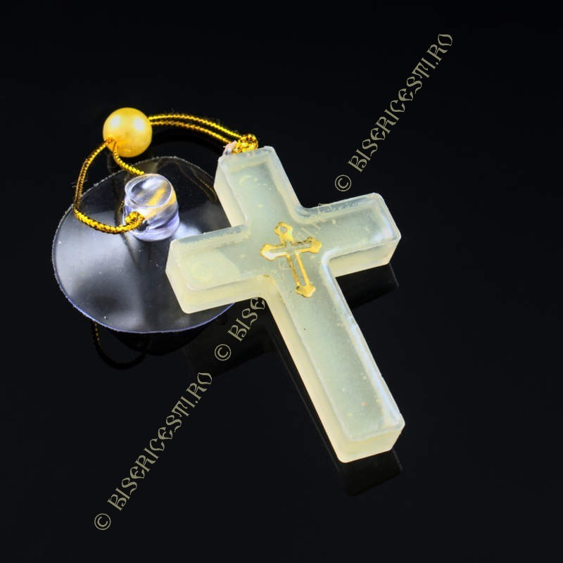 Obiecte bisericesti Medalion auto cruce din plastic Ventani 2533